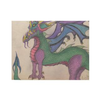 Chakra Dragon Wood Poster