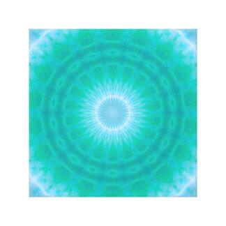Chakra Energy 2 (green & blue) Canvas Print