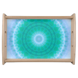 Chakra Energy 2 (green & blue) Serving Tray