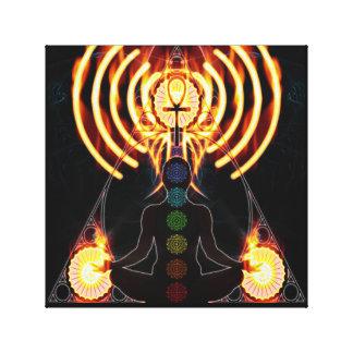Chakra Eternal Energy Canvas Print