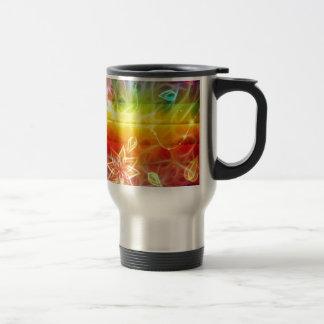 Chakra flower energy art by healing love stainless steel travel mug