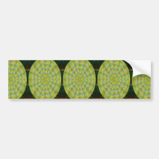 CHAKRA Green Wheel Crystal Beads Stone FUN GIFTS Bumper Stickers