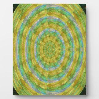 CHAKRA Green Wheel Crystal Beads Stone FUN GIFTS Plaque