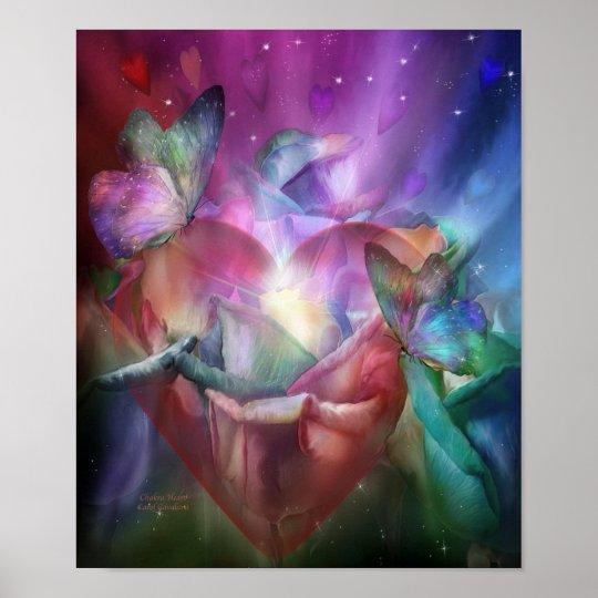 Chakra Heart Art Poster/Print Poster