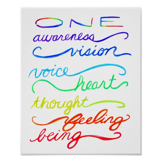 Chakra Inspirational One Words Art Print Poster