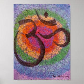 Chakra inspired Om Poster