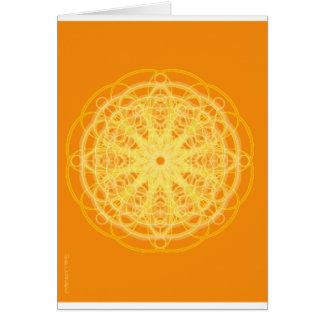Chakra Mandala Sacred Geometry Bright Orange Card
