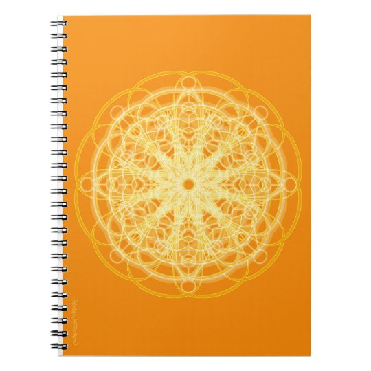 Chakra Mandala Sacred Geometry Bright Orange Notebooks