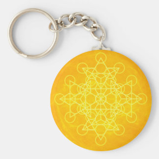 Chakra Mandala Sacred Geometry Bright Yellow Keychains