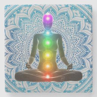 Chakra, Mandala, Spiritual Marble Coasters