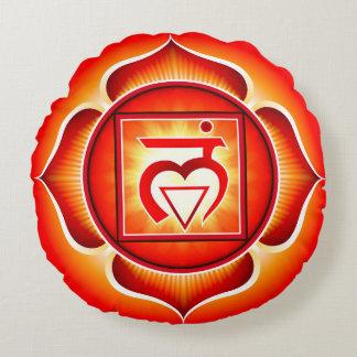Chakra Muladhara Yoga Round Pillow