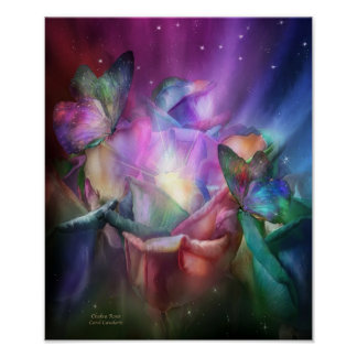 Chakra Roses Fine Art Poster/Print Poster