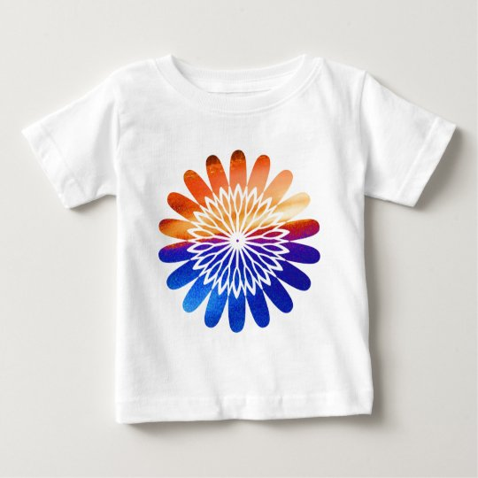 Chakra Round Graphic Flower Jewel Baby T-Shirt