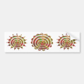 Chakra Style Sunflower Bumper Sticker