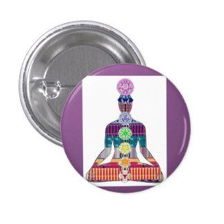 Chakra System Yoga Meditation Well Being NVN656 3 Cm Round Badge