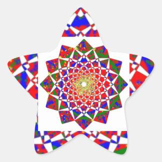 CHAKRA VIEW : Artistic Geometric Formation Star Sticker