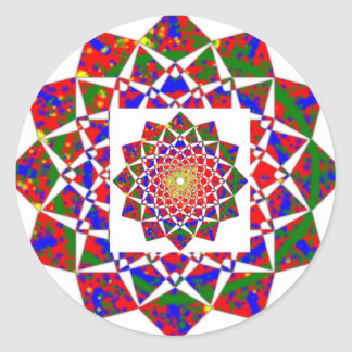 CHAKRA VIEW : Artistic Geometric Formation Classic Round Sticker