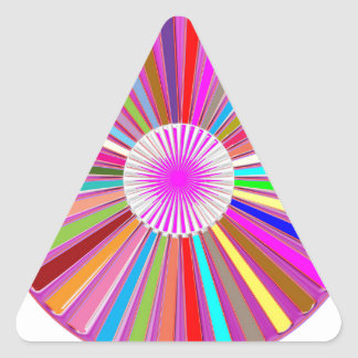 CHAKRA Wheel Round Colorful Healing Goodluck Decor Stickers