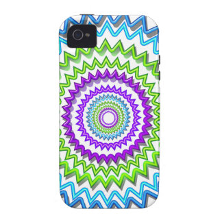 CHAKRA WHEEL Round Neon Sparkle Healing Decoration Vibe iPhone 4 Cases