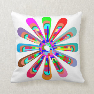CHAKRA WHEEL Round Neon Sparkle Healing Decoration Cushion