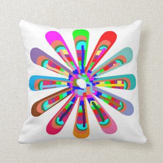CHAKRA WHEEL Round Neon Sparkle Healing Decoration Pillow