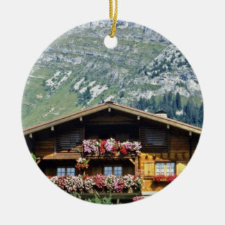 Chalet above Le Grand Bornand, French Alps, France Ornament