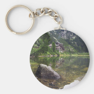 Chalet Next To Tarn Key Ring