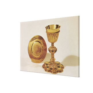 Chalice and paten canvas print