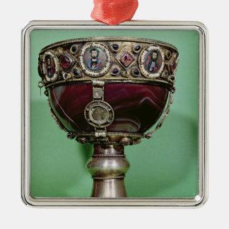 Chalice Silver-Colored Square Decoration