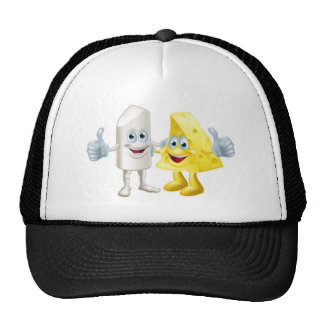 Chalk and cheese friends mesh hats