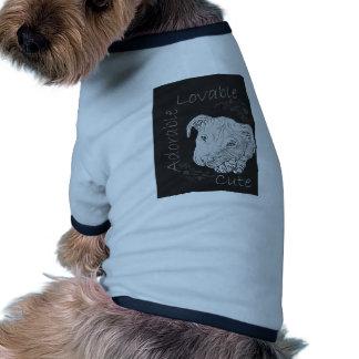 Chalk Drawing of Adorable Pitbull Dog Tee Shirt