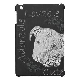 Chalk Drawing of Adorable Pitbull iPad Mini Cover