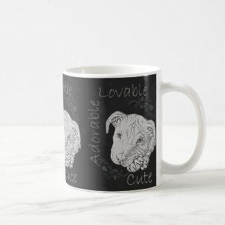Chalk Drawing of Adorable Pitbull Mug