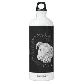 Chalk Drawing of Adorable Pitbull SIGG Traveller 1.0L Water Bottle