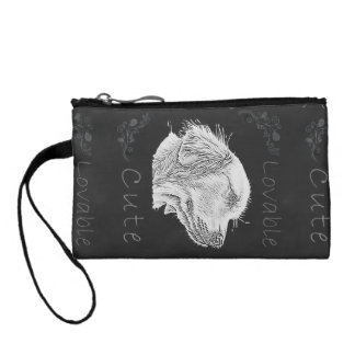 Chalk Drawing of Golden Retriever Change Purse