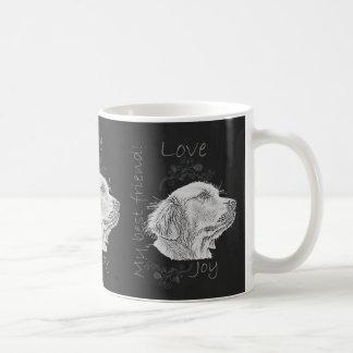 Chalk Drawing of Golden Retriever Coffee Mug