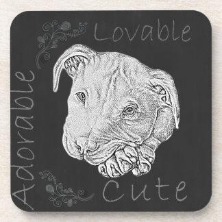 Chalk Drawing of Pitbull Coaster