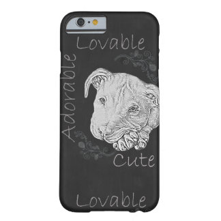 Chalk Drawing of Pitbull on Phone Case Barely There iPhone 6 Case