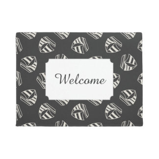 Chalk Drawn Sailboat Pattern | Add Your Text Doormat