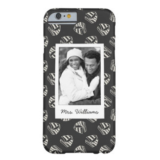Chalk Drawn Sailboat Pattern | Your Photo & Name Barely There iPhone 6 Case