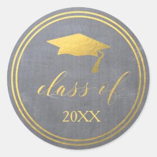Chalk & Faux Gold Foil | Graduation Envelope Seal