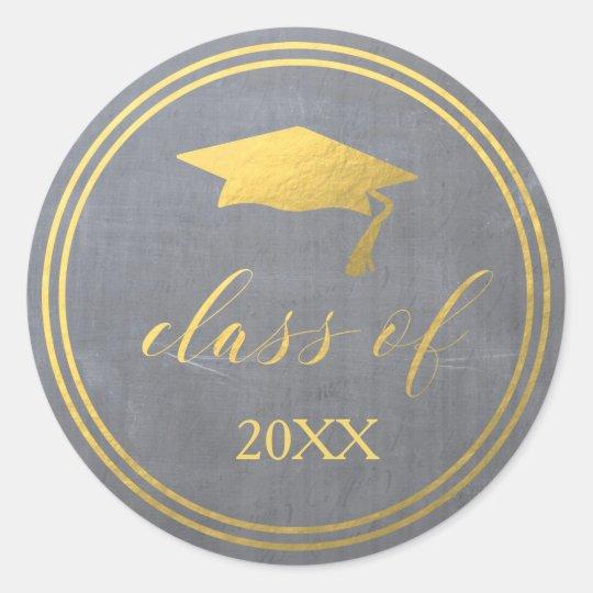 Chalk & Faux Gold Foil   Graduation Envelope