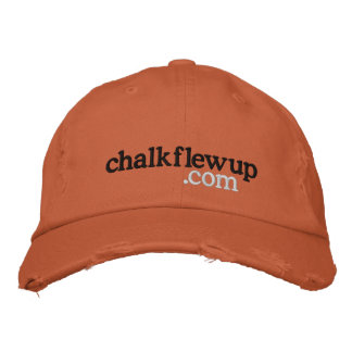 chalk flew up (dot com) hat embroidered baseball cap