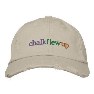 chalk flew up khaki hat embroidered hat