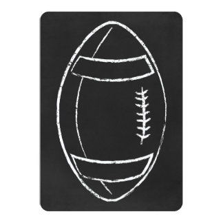 chalk football 13 cm x 18 cm invitation card