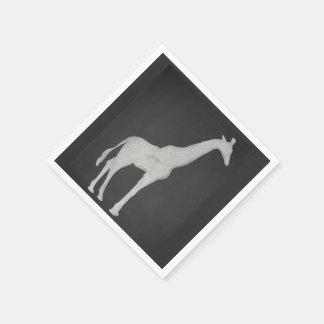 Chalk Giraffe Disposable Serviettes