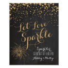 Chalk Glitter Let Love Sparkle, Sparkler Send off Poster
