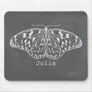 Chalk Inspired Butterfly Mousepad