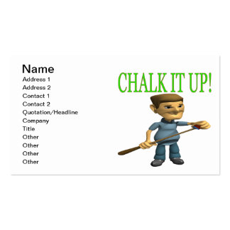 Chalk It Up 2 Pack Of Standard Business Cards
