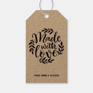 Chalk Lettering Made With Love Kraft Paper Gift Tags